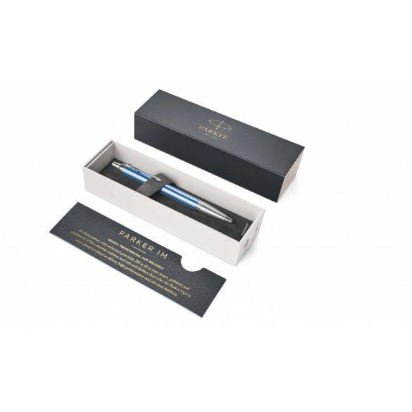 Parker Royal Im Premium Golyóstoll Kék Cizellált, Ezüst Klipsz