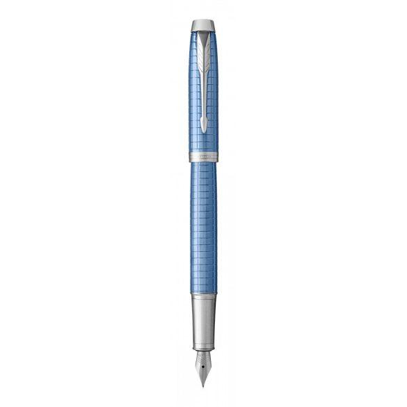 Parker Royal Im Premium Töltőtoll Kék Cizellált, Ezüst Klipsz