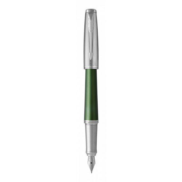 Parker Royal Urban Premium Töltőtoll Zöld Cizellált, Ezüst Klipsz