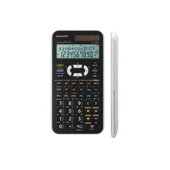 Sharp EL-506X-WH Színes tudományos számológép, Fekete-fehér