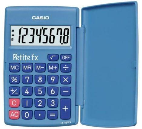Casio LC-401LV BLUE kék zsebszámológép