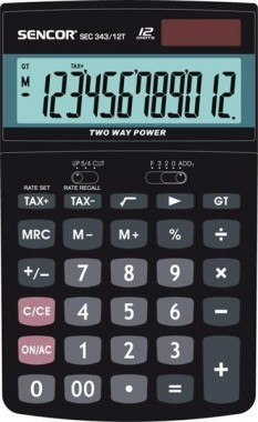 SENCOR SEC 343/12T asztali számológép