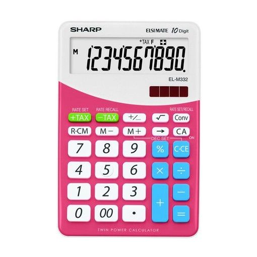 Sharp EL-M332BPK rózsaszín asztali számológép